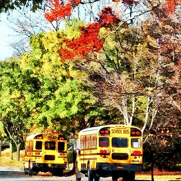 Parked School Buses by SudaP0408