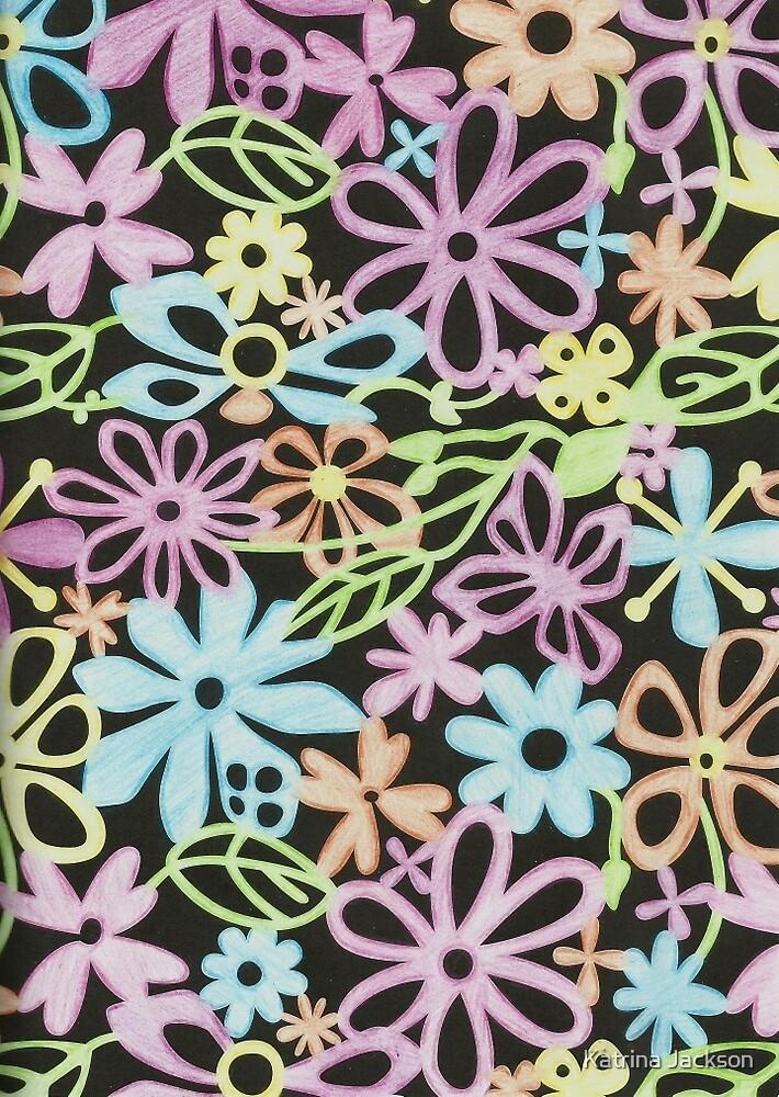 Pastel Flowers by Katrina Jackson