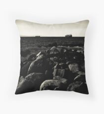 On the water at English Bay Throw Pillow