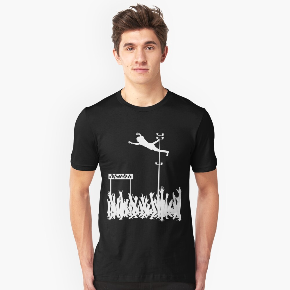 Stage Diving White Unisex T-Shirt Front