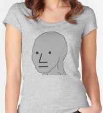 NPC Wojak Women's Fitted Scoop T-Shirt