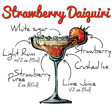 Strawberry Daiquiri Recipe by HuckleberryArts