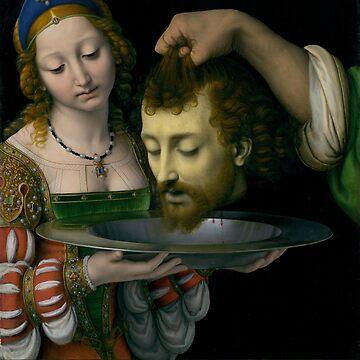 Salome with the Head of Saint John the Baptist - Andrea Solario  by maryedenoa