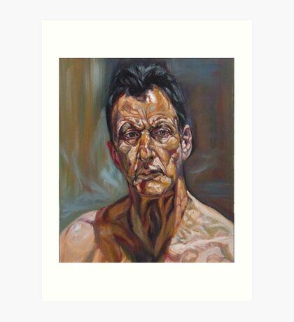 self-portrait after Lucian freud  Art Print