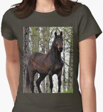 Percheron Thoroughbred Horse Women's Fitted T-Shirt