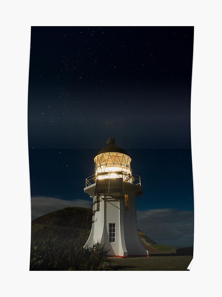 Cape Reinga Lighthouse At Night 5 Poster