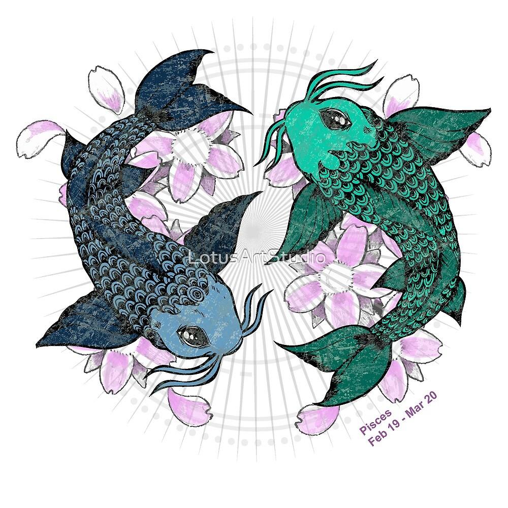 Koi fish Pisces  by LotusArtStudio