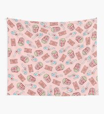 Movie Pattern in Pastel Pink Wall Tapestry