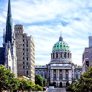 Harrisburg PA - Capitol Building Seen from State Street by SudaP0408