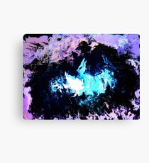 Dragon Blue Flames Canvas Print