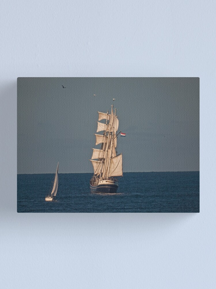 Alternate view of Sails in the Sunset. Canvas Print