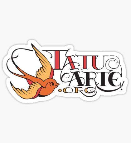 www.tatuarte.org bluebird logo Sticker