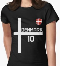 denmark Women's Fitted T-Shirt