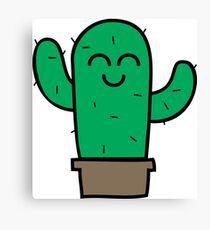Cute Little Green Cactus Canvas Print