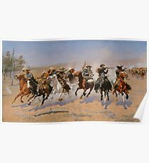 A Dash for the Timber - Frederic Remington  Poster