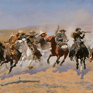 A Dash for the Timber - Frederic Remington  by maryedenoa