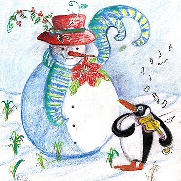 SNOWMAN AND PENGUIN'S WINTER SERENADE by BulganLumini