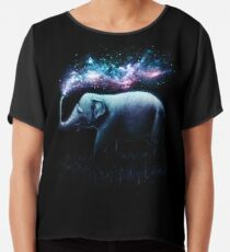 Elephant Splash Chiffon Top