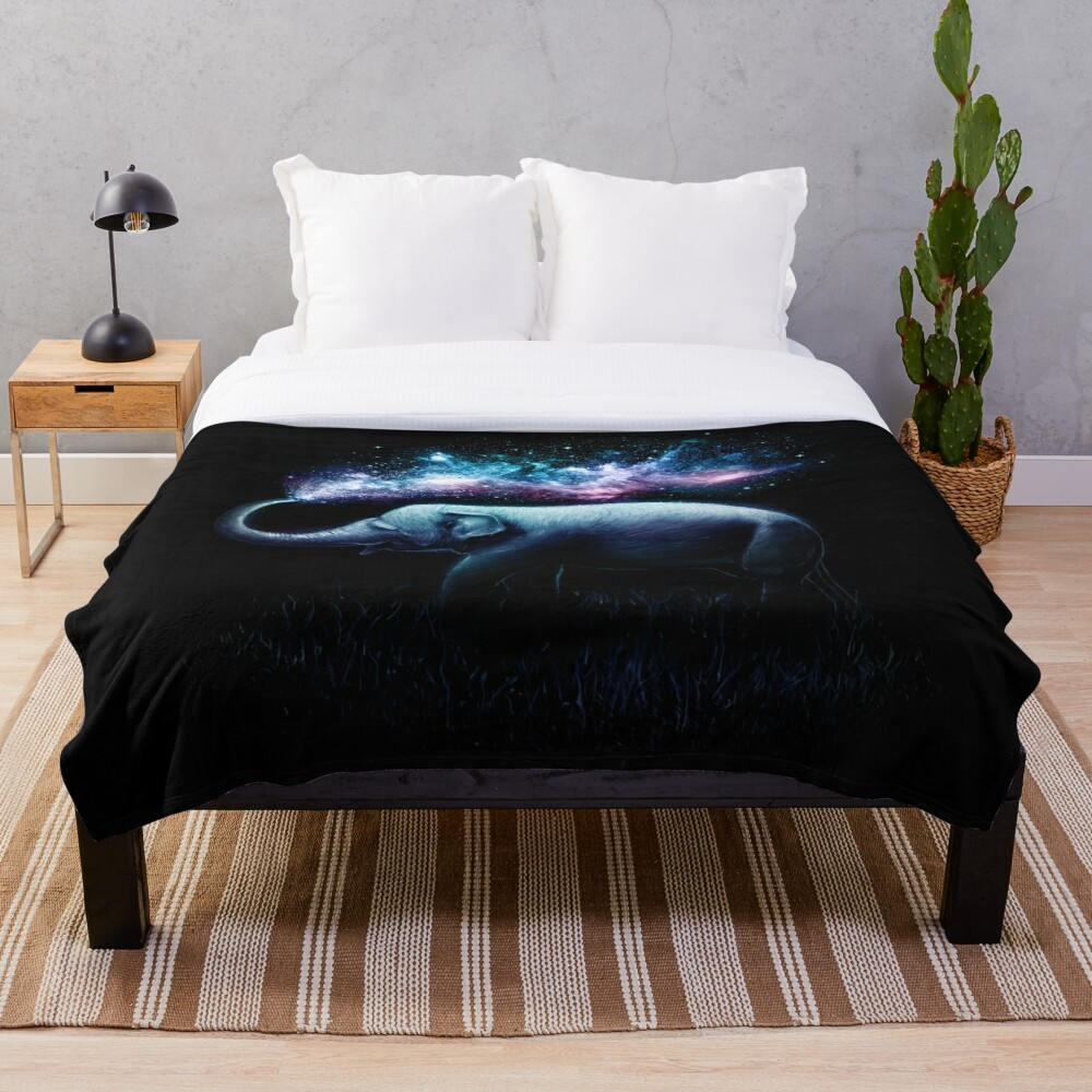 Elephant Splash Throw Blanket