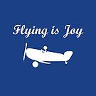 Flying is Joy Airplane with Pilot Dark Monotone by TinyStarAmerica