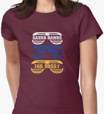 "Sasha Banks   ""Too Bad , Too Bossy"" Women's Fitted T-Shirt"