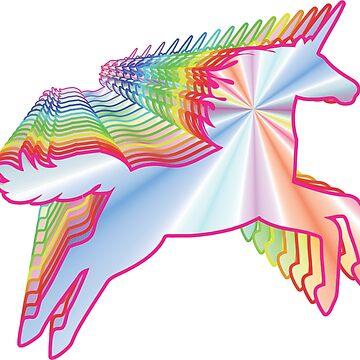 Magical Rainbow Unicorn by BerksGraphics