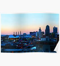 Downtown Kansas City at Sunset Poster