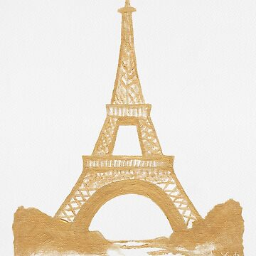 Golden Eiffel Tower by travelle