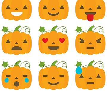 Pumpkin Emoji - Halloween by TrendJunky