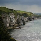 cliffs of chalk by Kent Tisher