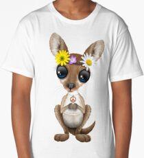 Cute Baby Kangaroo Hippie  Long T-Shirt