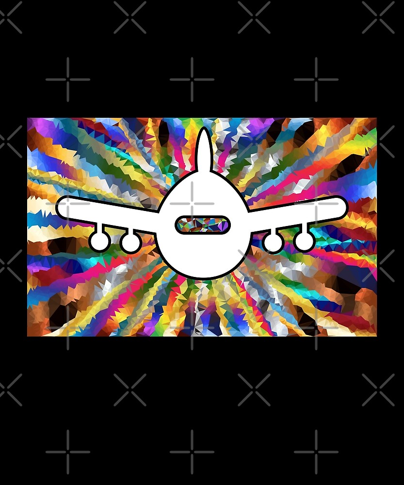 Psychedelic Airplane Lined Pattern Color by TinyStarAmerica