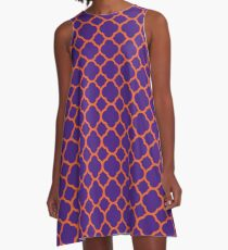 Quatrefoil Game Day Dress | Clemson 4 A-Line Dress