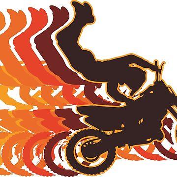 Retro Motocross Motorcycle by BerksGraphics