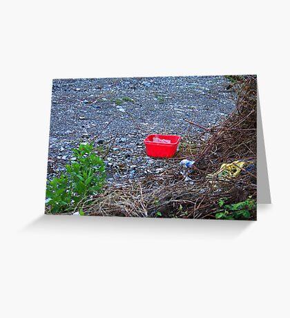 Red basket Greeting Card