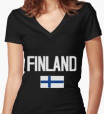 Finland Women's Fitted V-Neck T-Shirt