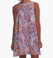 Paisley Game Day Dress | Clemson | Tiger Sunset A-Line Dress