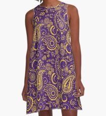 Paisley Game Day Dress | Go Tigers | Purple Sparkle A-Line Dress
