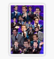John Mulaney Collage Transparent Sticker