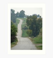 A Country Road Art Print