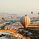 Flying hot air balloon over the Cappadocia by HalinaJ