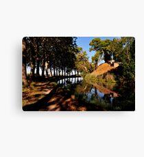 Canal du Midi at Poilhes Canvas Print