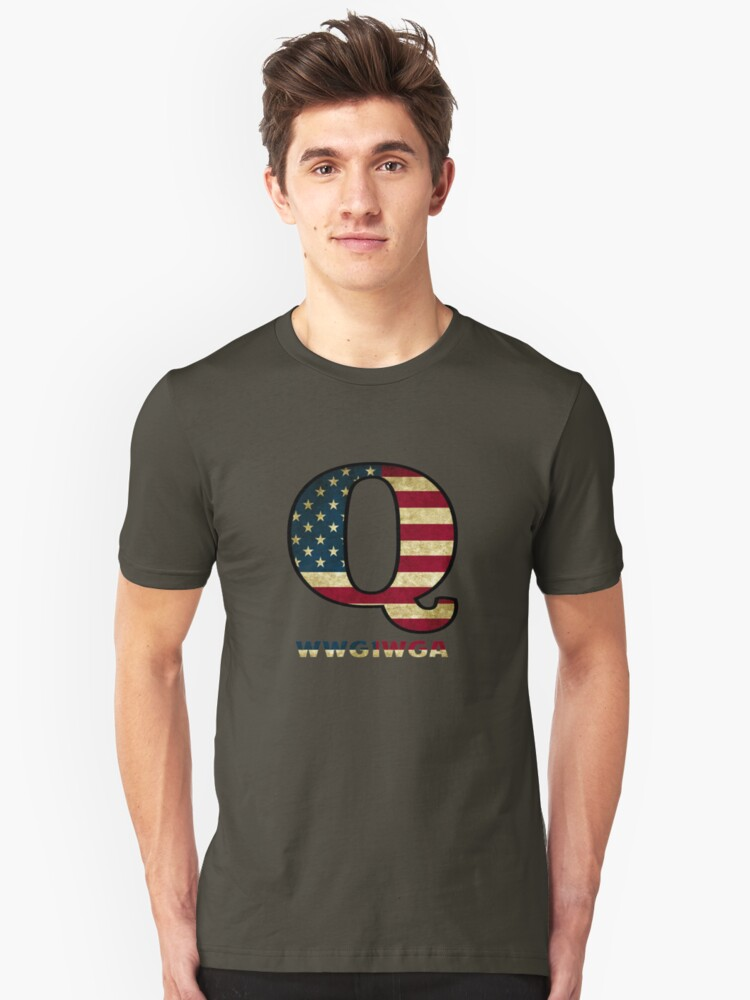 QAnon Where We Go One We Go All Unisex T-Shirt Front