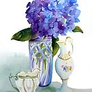 Purple and Porcelain by Pat Yager