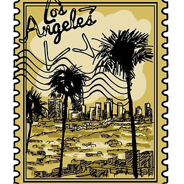 Los Angeles Stamp by pda1986