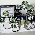 snowmen christmas card by tego53