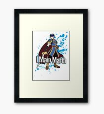 I Main Marth - Super Smash Bros. Framed Print