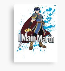 I Main Marth - Super Smash Bros. Canvas Print