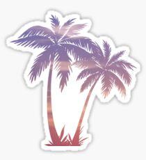 Sunset Palm Trees Sticker