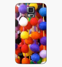 COLOURED COTTON BOBBLES NOW AVAILABLE ON PENCIL SKIRTS AND SCARVES Case/Skin for Samsung Galaxy